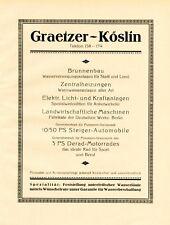 Well Fountain Constraction Graetzer Koszalin XL 1924 ad Köslin  advertising +