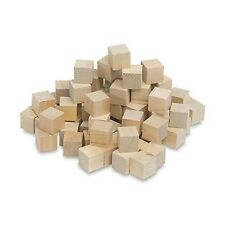1/2 Inch Wood Cubes Natural Unfinished Craft Wood Blocks (1/2) - by Craftpart...