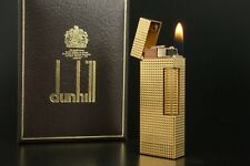 Dunhill Lighter Rollagas Serviced Working Vintage New O-rings Switzerland #736