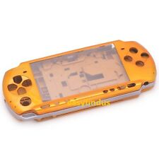for PSP 3000 Slim Full Housing Shell Case battery cover button parts yellow gold