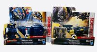 Transformers The Last Knight Megatron Barricade 1-step turbo changer Lot of 2