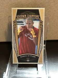 2015 Goodwin Champions GEORGES ST-PIERRE #55 Lady Luck Cloth Variant/50 UFC MMA