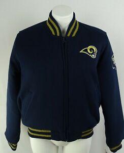 Los Angeles Rams NFL Team Apparel Men's Full-Zip Varsity Jacket