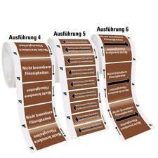 Rohrleitungsband Bohremulsion Ausf.5 braun/weiß/schwarz Ø>10mm 33m/Rolle