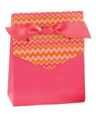 New Hbh Pink and Orange Zig Zag Tent Favor Boxes 25 pc.