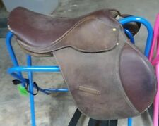 "17"" Brown English Saddle No Irons"
