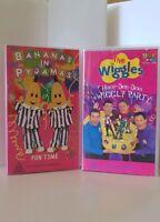 The Original Wiggles Hoop Dee Doo & Bananas In Pyjamas Fun Time VHS Tape