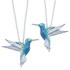 2021 Unique Style Fashion Blue Hummingbird Bird Pendant Choker Necklace Jewelry*