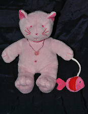 Peluche Doudou Chat Rose LA HALLE AUX VETEMENTS Poisson Rose Rouge 20 Cm TTBE