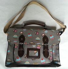 Messenger Satchel style handbag with cupcake design perfect condition