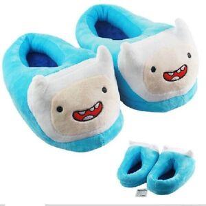 Adventure Time Finn Comfortable Plush Winter Slippers Full Cover