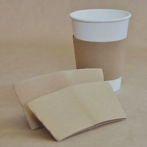 12/16oz Coffee Cup Sleeves - KRAFT  1000 pcs