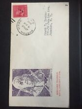 Boston ma Jan 17 1940 Benjamin Franklin Birthday cachet on COVER USA 🇺 🇸
