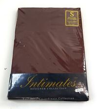 SINGLE BED LINEN CHOCOLATE BROWN COTTON BLEND FITTED SHEET @@LAST SHEET@@