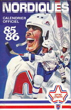 1985-86 QUEBEC NORDIQUES NHL HOCKEY POCKET SCHEDULE - FRENCH