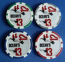 4 RARE OCEAN'S 11 12 13 TRILOGY  Casino Poker Chip Ball Markers