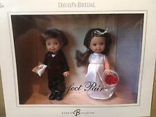 Mattel Barbie David's Bridal Perfect Pair -Tommy and Kelly Doll BRUNETTE NEW