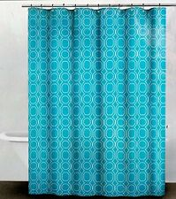 NIP DKNY CARBON TURQUOISE SHOWER CURTAIN