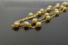 "Simulated Pearl Illusion Necklace White 40"" BB15-C-"