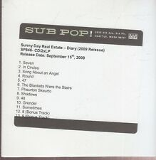 sunny day real estate  diary cd promo reissue sub pop