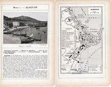 Corse Ajaccio 1912 plan ville, photos + guide (12 p.)