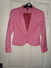 H&M Button Blazer Cropped Coats & Jackets for Women