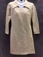 Lady Laura Mod Dress Sz 12 (6) Groovy 70s Abstract Metallic Thread Toni Todd Vtg
