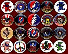 "Grateful Dead x 20 1"" NEW buttons pin badge logo jerry garcia bear the head"
