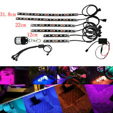 18 Color 15 LED RGB Motorcycle ATV SUV Flexible Strip LED NEON Remote Light X 6
