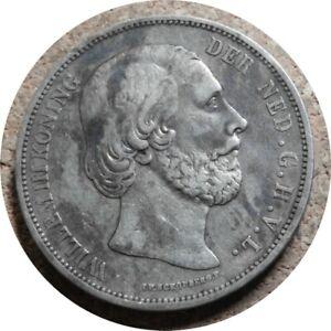 elf Netherlands 2 1/2  Gulden  1867   Willem III