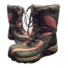 Snow Boots Womens Size 8 Pink Gray Lace Up