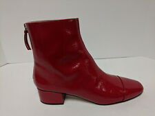 J.Crew Cap Toe Ankle Boots, Brick Red, Womens 8.5 M