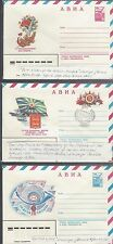 Three Russian Letter sheets various Issues. Covers,  034