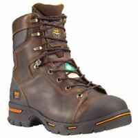 "Timberland PRO Men's Endurance 8"" Steel Toe Work Boots Briar Brown TB052561214"