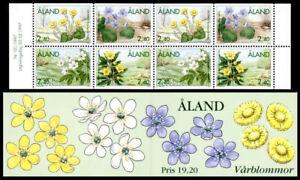 Aland 1997 Spring Flowers Booklet Complete, MNH/UNM
