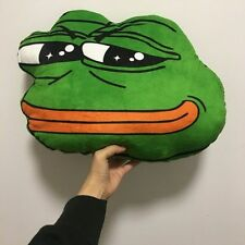 Pepe The Frog Plush Pillow - 4chan kekistan Meme sad frog smug pol doll rare kek