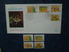 G1868 SURINAME  1989  WWF  ORCHIDS  SET MNH  +    FDC  E 101