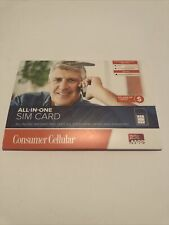 Sealed Consumer Cellular All-in-One Sim Card (Nano, Micro, Standard)+$10 Credit