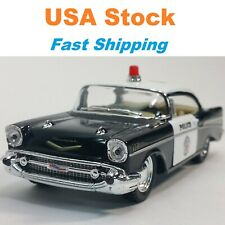1957 Chevrolet Bel Air Police, Chevy Cop, Kinsmart, Diecast Toy Car, 5'', 1:40