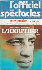 L'Officiel des Spectacles N° 1273 Mars 1973 - L'Héritier Jean-Paul Belmondo