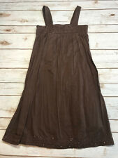 Gap Kids Girls M 8 Brown Maxi Long Summer Sun Dress Sequin Embelished Beads Boho