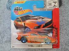Hot Wheels 2014 # 161/250 2013 Ford Mustang GT NARANJA HW CARRERA PRIMERA edicón