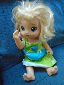 Hasbro Baby Alive POTTY DANCE 14in Doll 2017 Blond Hair Dress 50+ Phrases Works