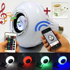 LED 12W Leuchte mit integriertem Lautsprecher E27 Bluetooth Musik RGB Lampen