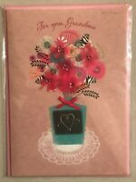 Papyrus - Mother's Day greeting card Grandma Flowers - New in Packaging