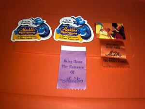 VTG Disney Aladdin King Thieves Genie Jafar Video Cast Member Promo Button Pin