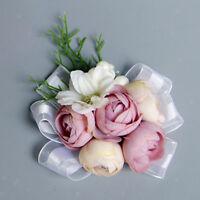 Vintage Wedding Flower Corsage Wrist Length Bracelet Hand Flower accessories