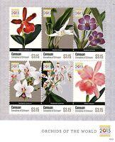 Canouan Grenadines St Vincent 2015 MNH Orchids of Singapore 2015 6v M/S Flowers