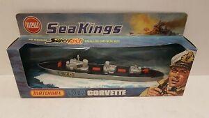 Sea King Nave K302 Corvette Die Cast Metal 1-200 Matchbox 1976 Vintage