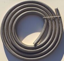 """9' FT 1/2"""" 12mm, Stainless Steel Braided PTFE Teflon Hose, Fuel Oil Line USA New"""
